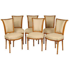 Set of Six Directoire Style Dining Room Chairs