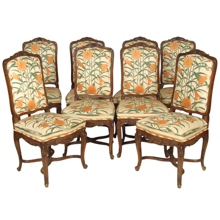 Set Of 8 Louis XV Dining Room Chairs At 1stdibs