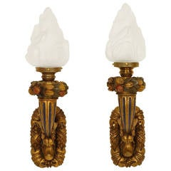 Pair of Baroque Style Wall Sconces