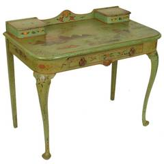 Green Chinoiserie Decorated Desk