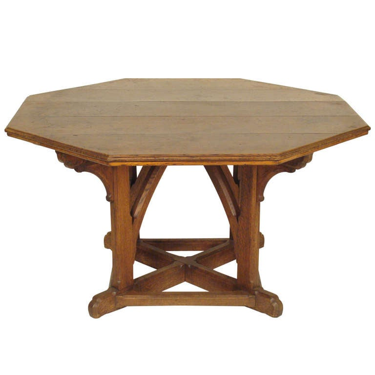 Arts And Crafts Center Table At 1stdibs