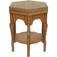 Moroccan Inlaid Games Table