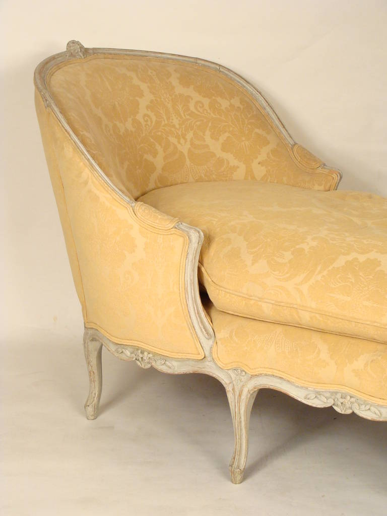 Painted louis xv chaise lounge circa 1900 at 1stdibs for Chaise louis xv