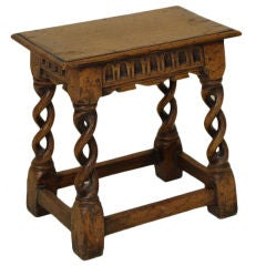 English oak joint stool