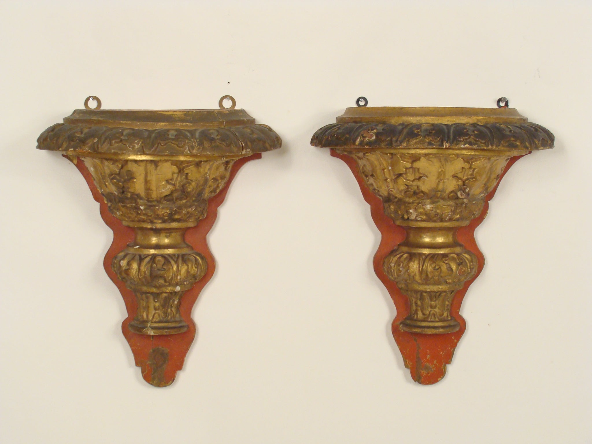 Pair of Baroque Style Wall Brackets