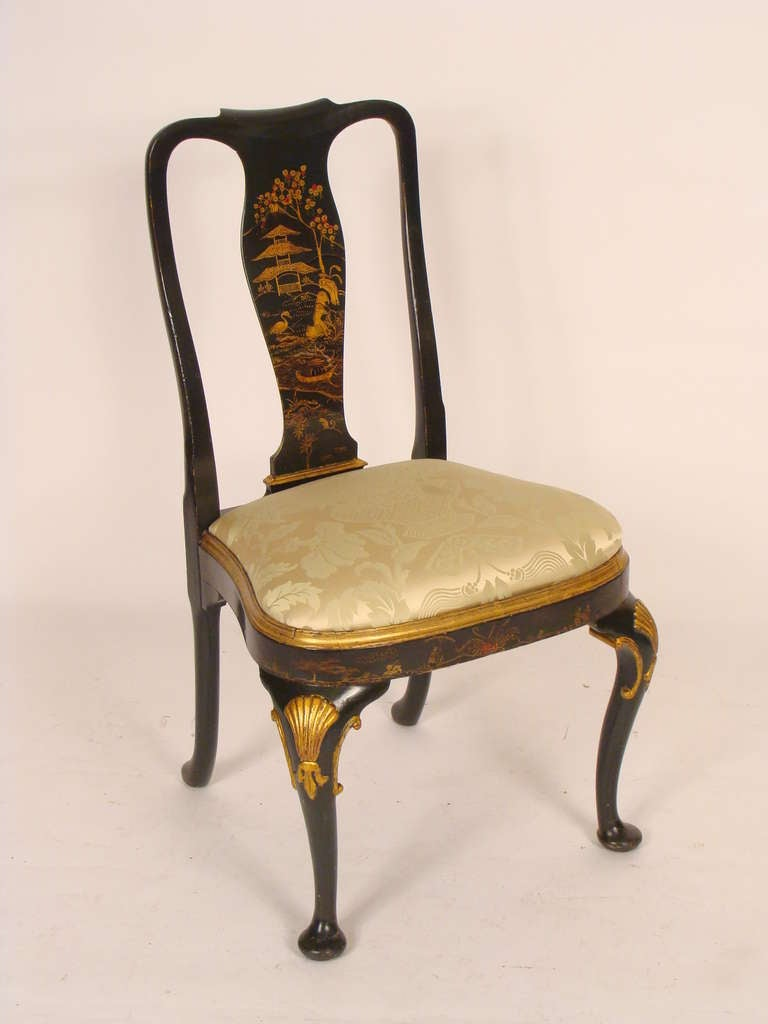 Set Of 4 Chinoiserie Decorated Chairs At 1stdibs