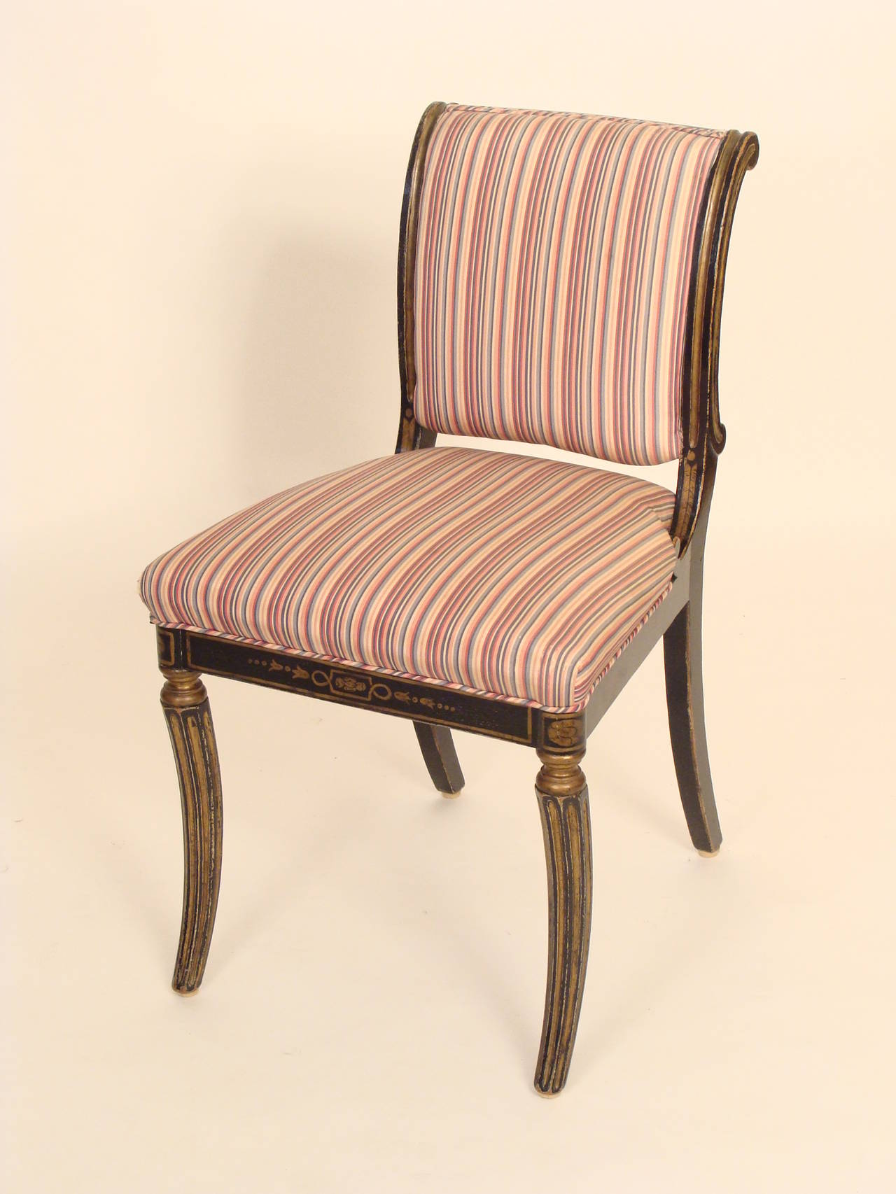 Set of four english regency style chairs at stdibs
