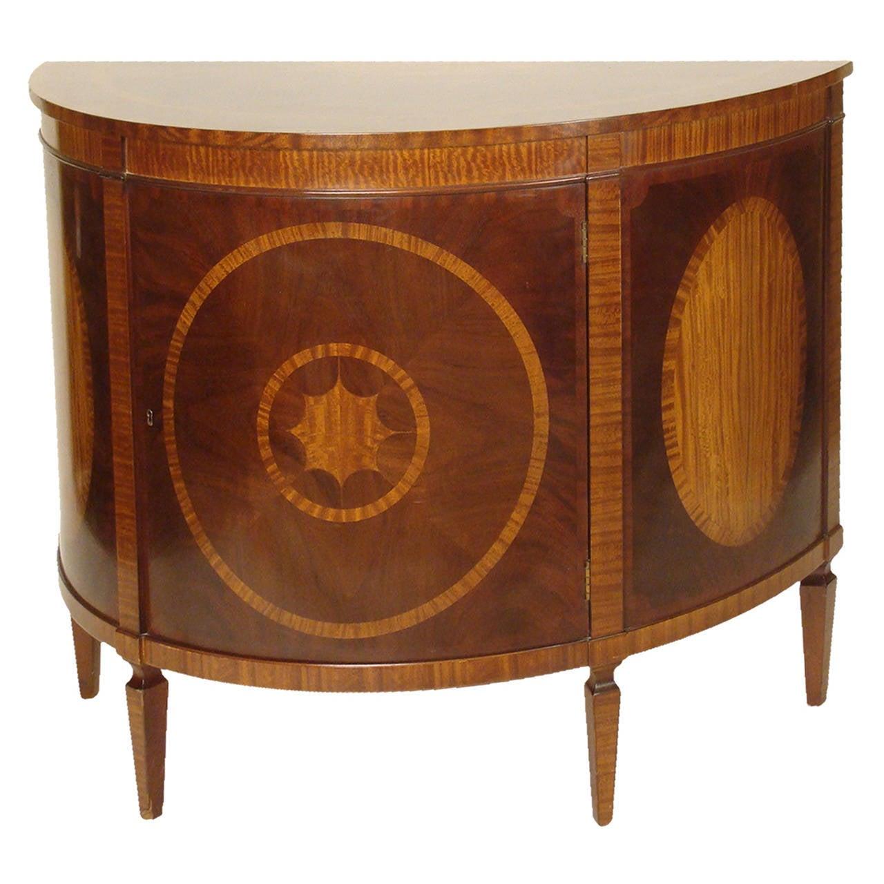 Baker Demilune Cabinet For Sale