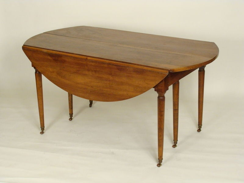 french directoire walnut dining room table at 1stdibs