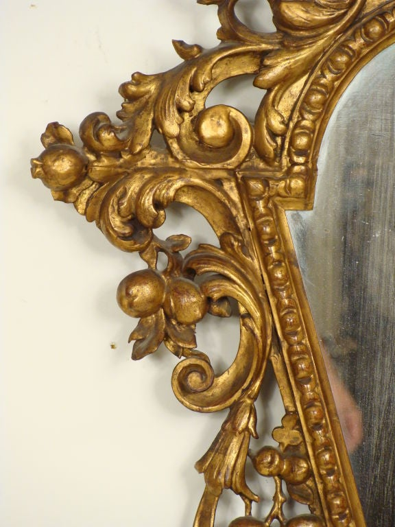Wood Pair of Italian Baroque Style Giltwood Mirrors For Sale