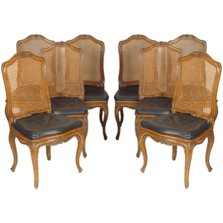 set of 8 louis xv provincial dining room chairs at 1stdibs