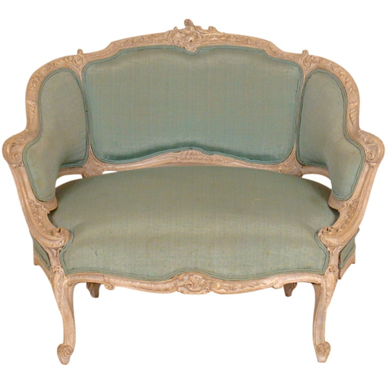 Louis XV painted marquis chair at 1stdibs