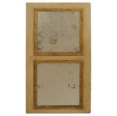 antique painted and gilt French mirror