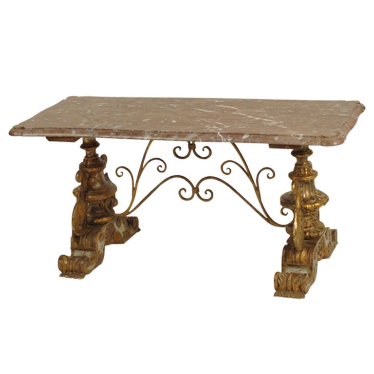 Italian Baroque Style Coffee Table At 1stdibs