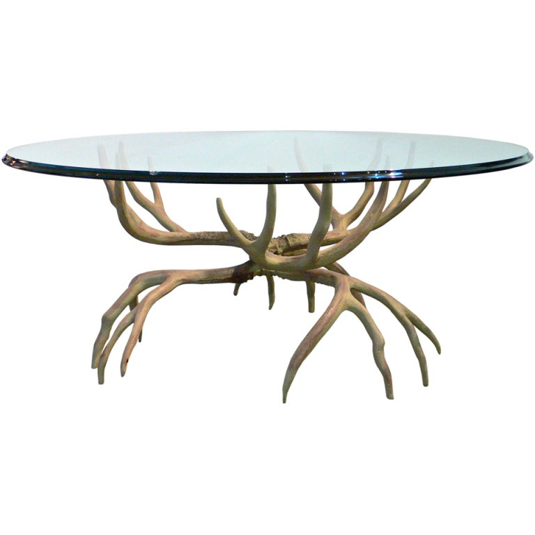 aluminum antler table by arthur court at 1stdibs