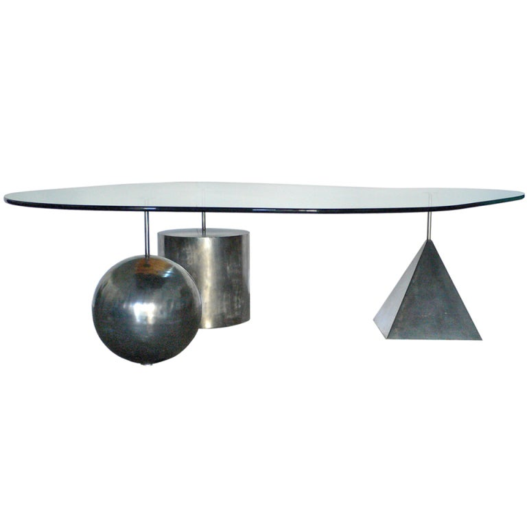 Stainless Steel Cocktail Table At 1stdibs
