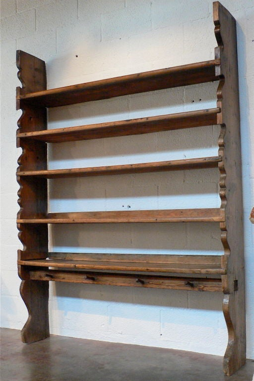 Antique Shelf Plate Rack At 1stdibs