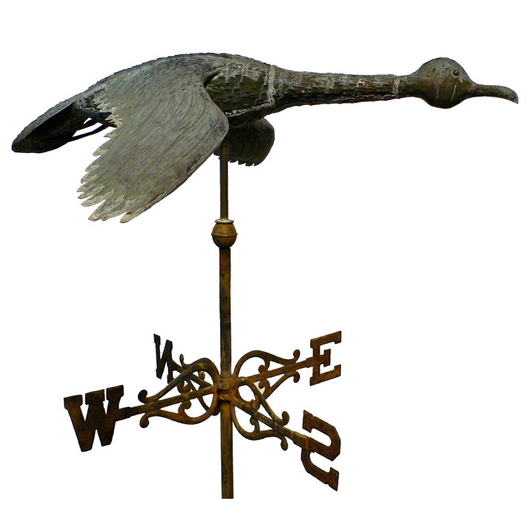 Vintage Wooden Weathervanes: Antique Copper Weathervane At 1stdibs