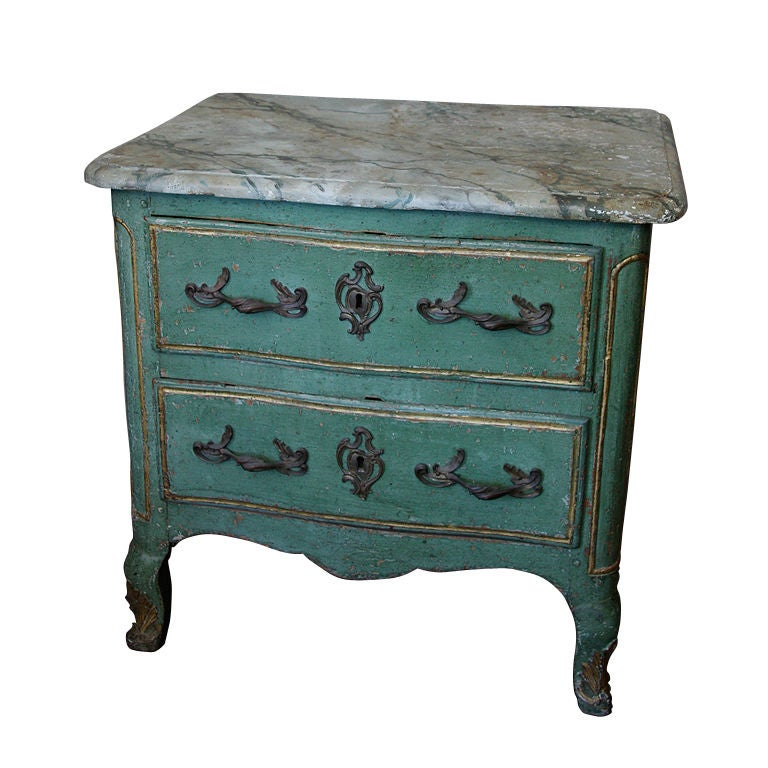 french painted commode at 1stdibs. Black Bedroom Furniture Sets. Home Design Ideas