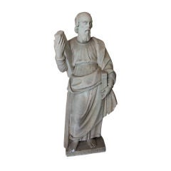 16th Century Marble Statue of a Robed Figure