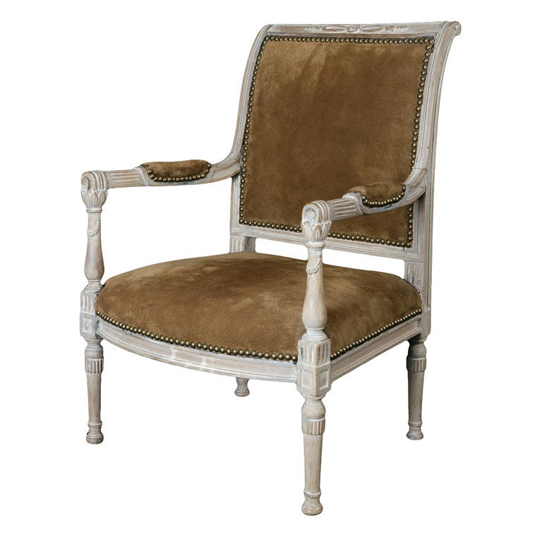 a fine french late directoire miniature fauteuil at 1stdibs. Black Bedroom Furniture Sets. Home Design Ideas