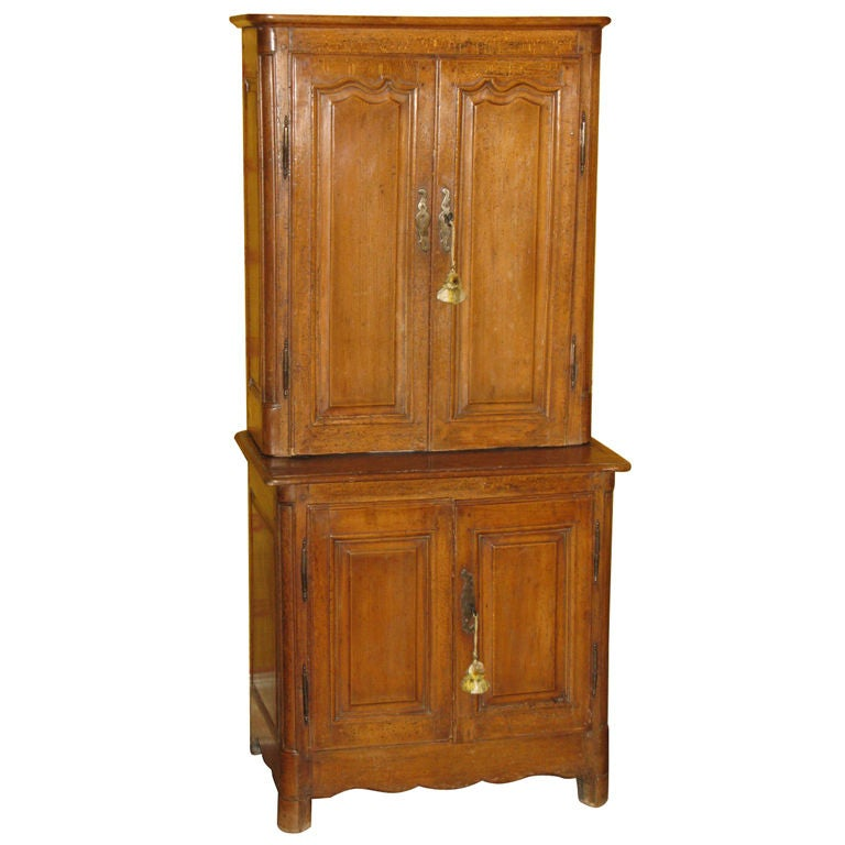 Rare Beech Wood Small Cabinet A Deux Corps at 1stdibs