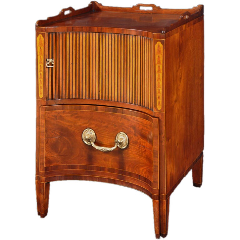 A George Iii Mahogany And Satinwood Inlaid Bedside Cabinet At 1stdibs