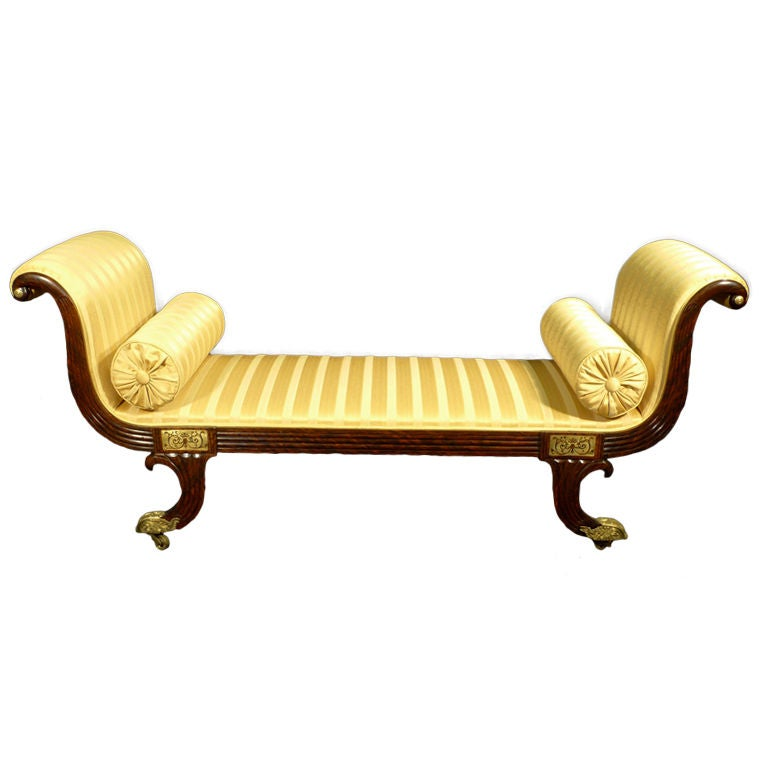 A regency brass inlaid simulated rosewood chaise longue at - Chaise longue lafuma solde ...