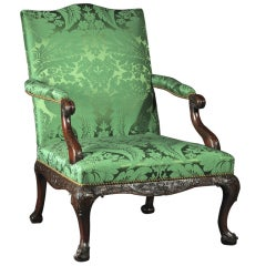 A George II Mahogany Library Armchair