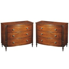 A Pair of Fine George III Mahogany Chests of Drawers