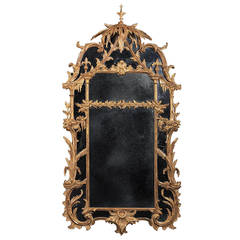 Important George III Mirror in the Manner of Thomas Chippendale