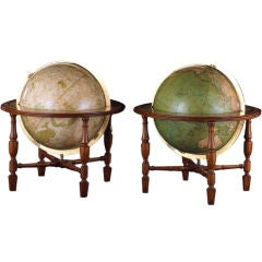 Pair of George IV Tabletop Globes
