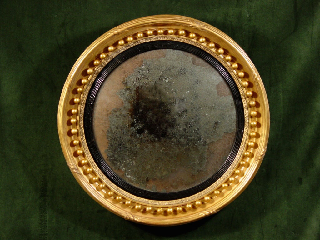 A regency convex mirror at 1stdibs for Convex mirror