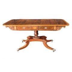 Regency Rosewood and Satinwood Sofa Table