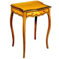 Elegant George III Serpentine Satinwood Occasional Table