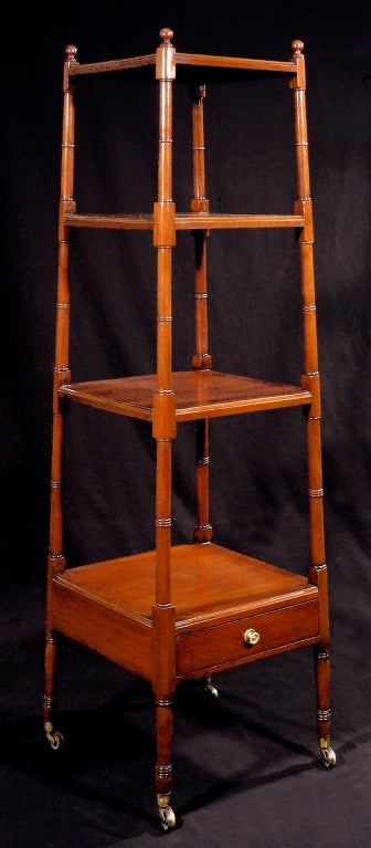 a regency mahogany etagere of pyramid form at 1stdibs. Black Bedroom Furniture Sets. Home Design Ideas