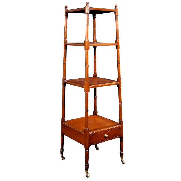Couleur Pour Une Cuisine Moderne : A Regency Mahogany Etagere Of Pyramid Form at 1stdibs