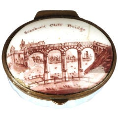 "Enamel Patch Box ""Scarboro Cliff Bridge"""