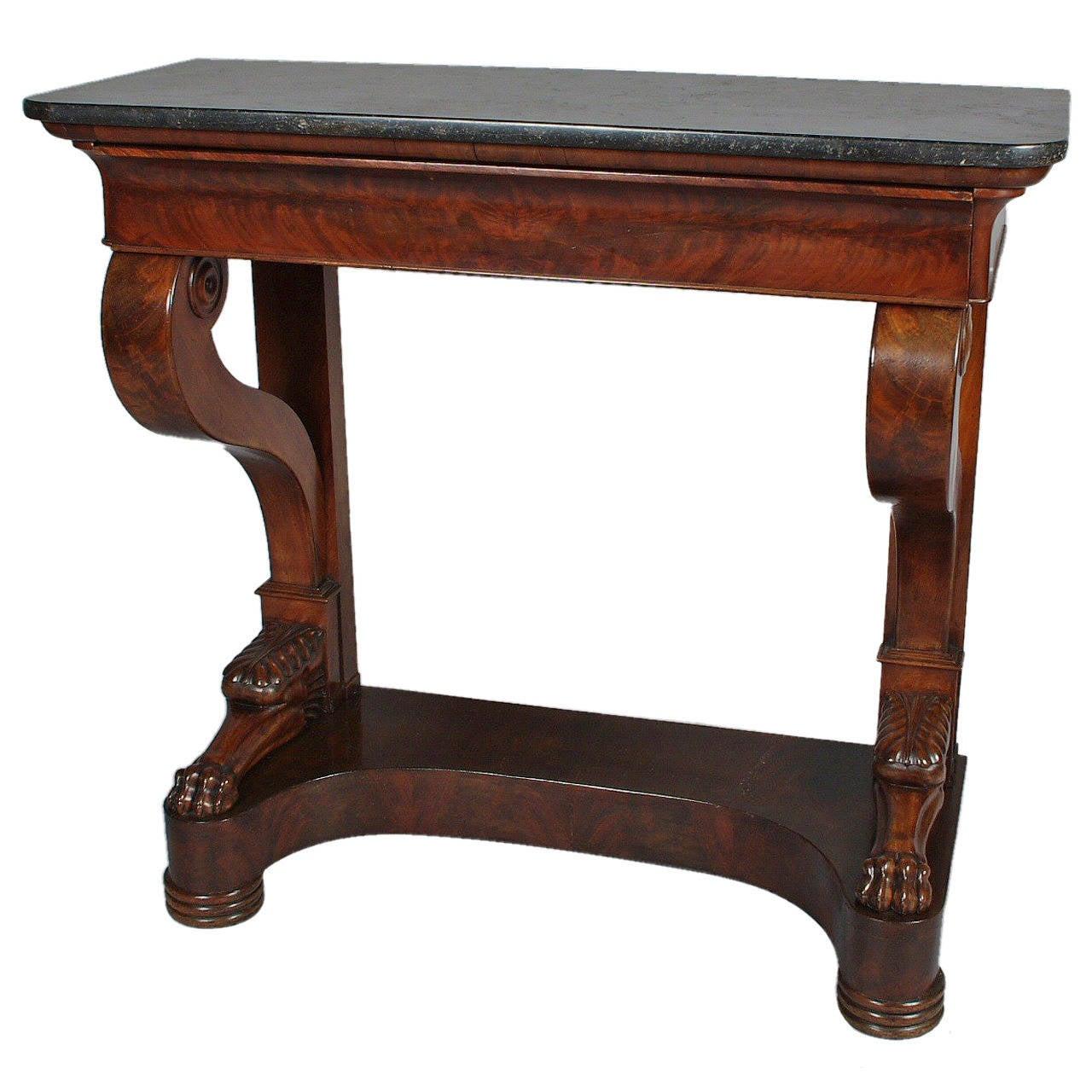 Charles x mahogany console table at 1stdibs charles x mahogany console table 1 geotapseo Gallery