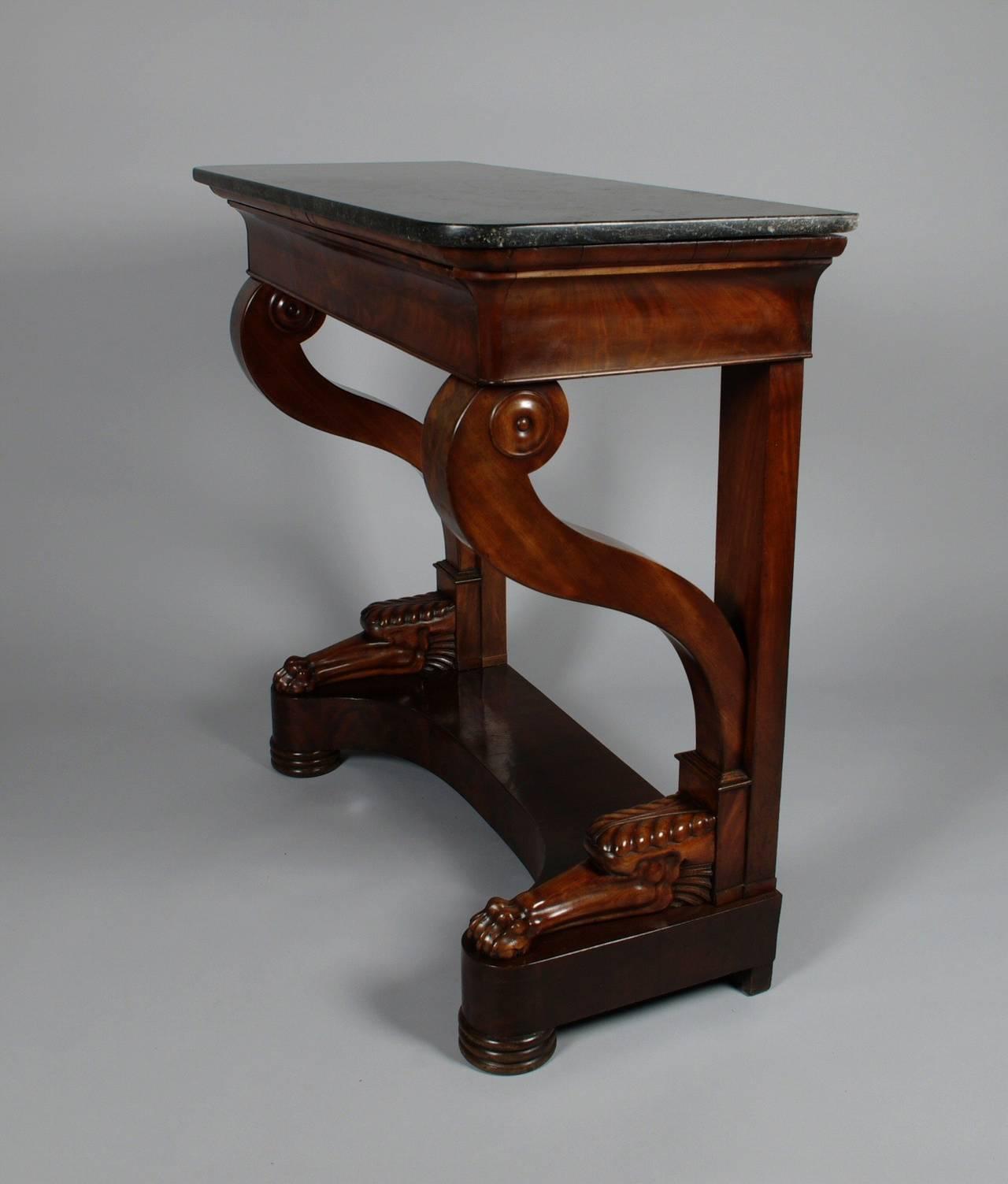 Charles x mahogany console table at 1stdibs charles x mahogany console table 3 geotapseo Gallery