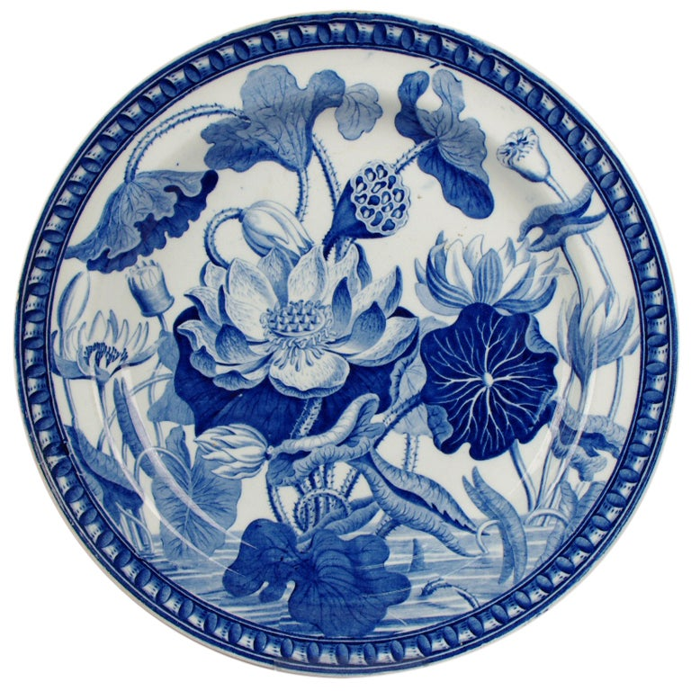 Wedgwood Pearlware Water Lily Plate 1