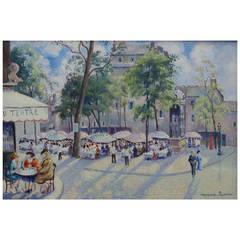 """Georges Manzana Pissarro """"Place du Tertre, Montmarte"""""""