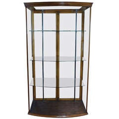 Edwardian Bow Front Display Cabinet