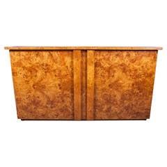Italian Burl Wood Cabinet
