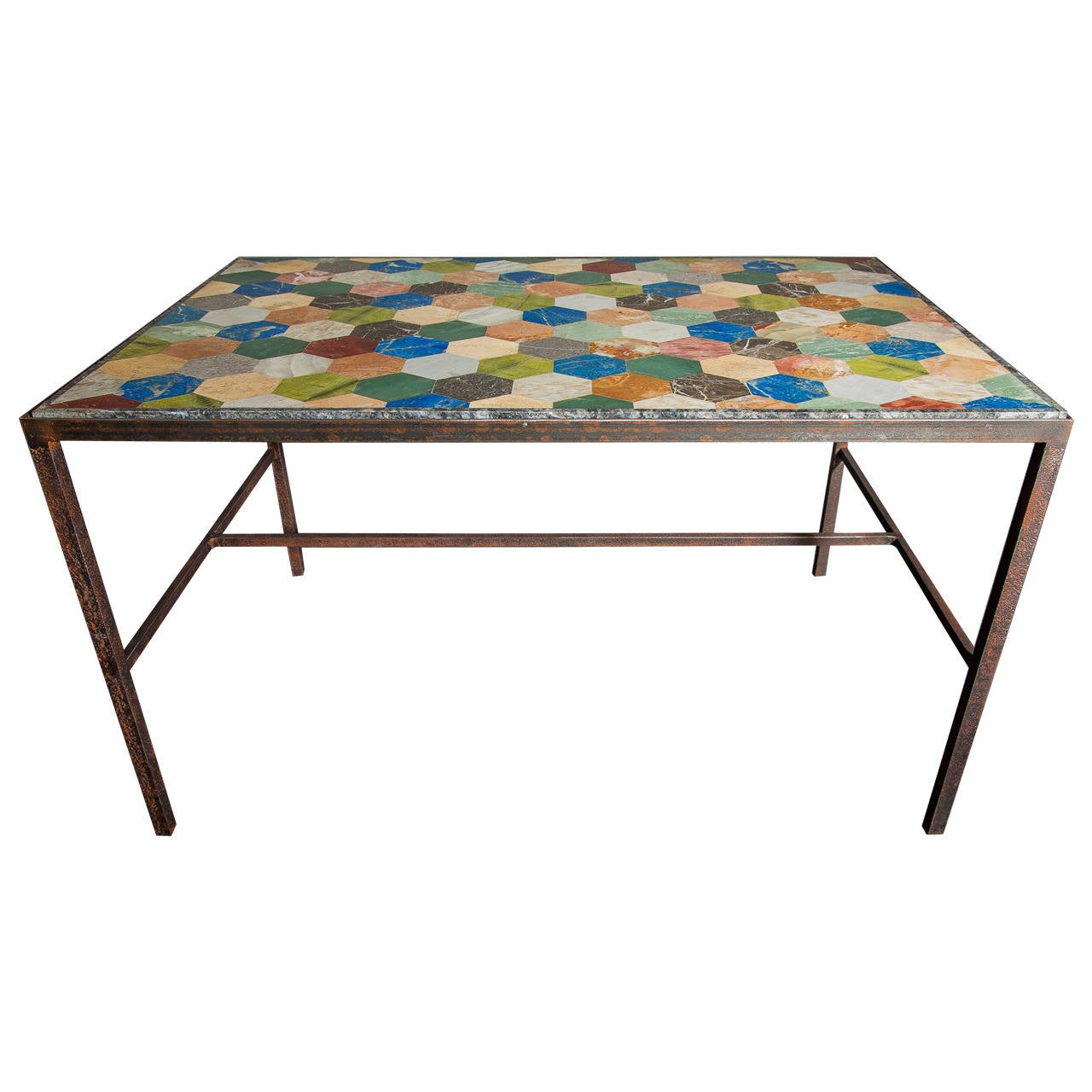 Italian Multi Colored Marble Top Table At 1stdibs