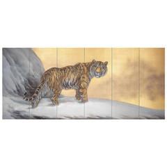 "Japanese Screen ""Siberian Tigers"""