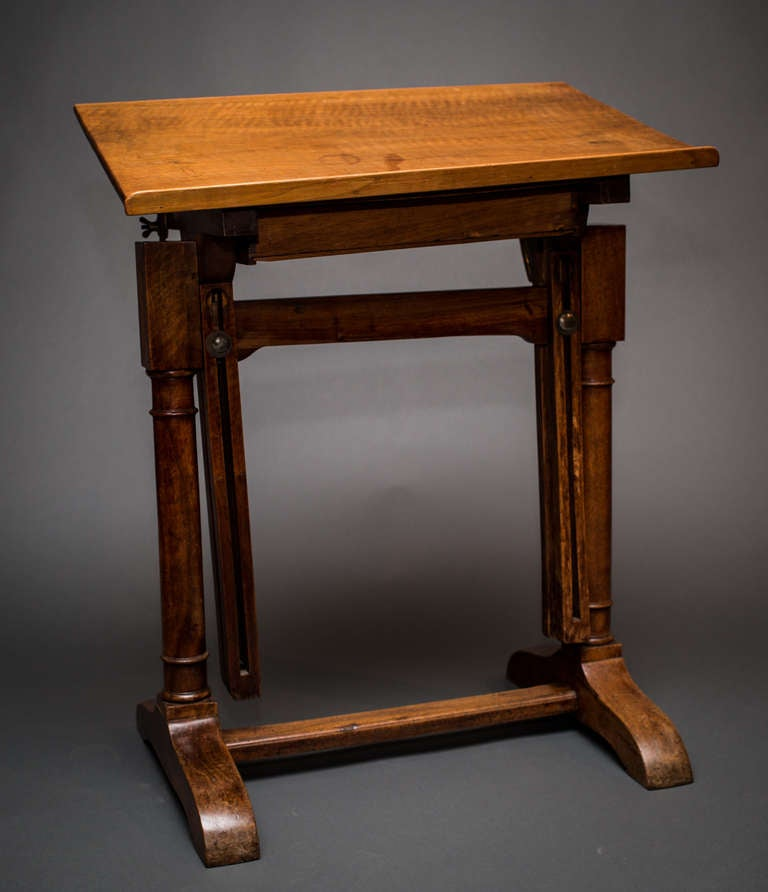 Wood drafting table with adjustable height at 1stdibs for Table 6a of gstr 1