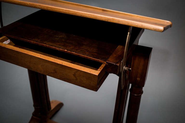 ... Drafting Table Adjustable Height Wood Drafting Table With Adjustable  Height At 1stdibs ...