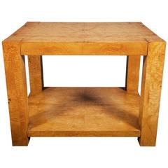 Midcentury Burl Veneer Table