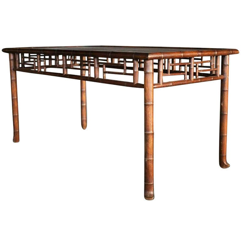 Faux Bamboo Dining Table For Sale At 1stdibs